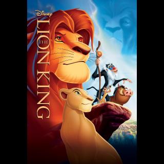 The Lion King | HDX | VUDU / MA