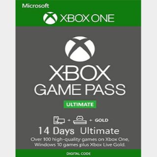 INSTANT DELIVERY Game Pass Ultimate 14 Days Xbox One Key/Code Global