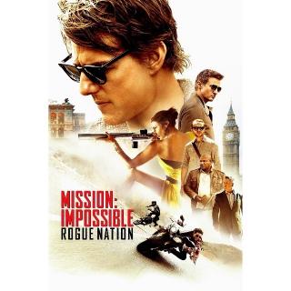 Mission: Impossible - Rogue Nation | HDX | UV VUDU
