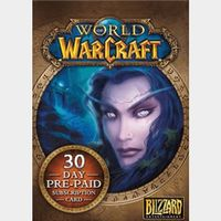 World of Warcraft 30 Days Pre-paid Game Card PC Key/Code EUROPE