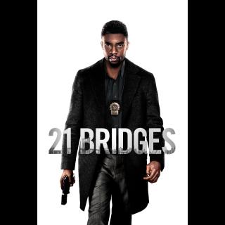 INSTANT DELIVERY 21 Bridges Digital Code   4K/UHD   iTunes