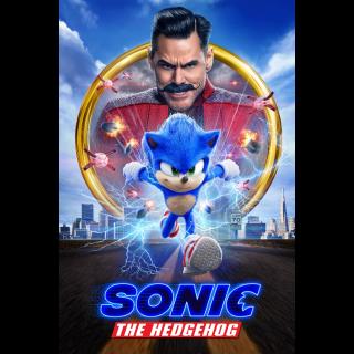 Sonic the Hedgehog Digital Code | HDX | VUDU or 4K/UHD via iTunes