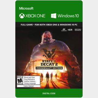 State of Decay 2 Juggernaut Edition Xbox One / Windows 10 / Xbox X / SERIES X/S  𝟰𝗞 𝗛𝗗𝗥 Key/Code Global