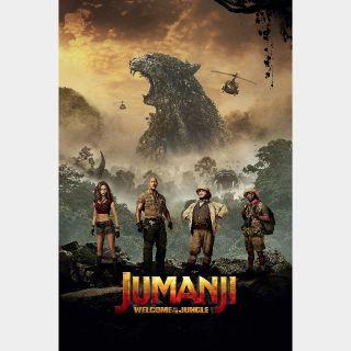 Jumanji: Welcome to the Jungle Digital Code | HDX | UV VUDU or HD iTunes via MA