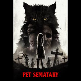 Pet Sematary 2019 | 4K/UHD | ITUNES +  HD | VUDU