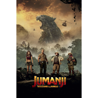 Jumanji: Welcome to the Jungle Digital Code | SD | UV VUDU or SD iTunes via MA