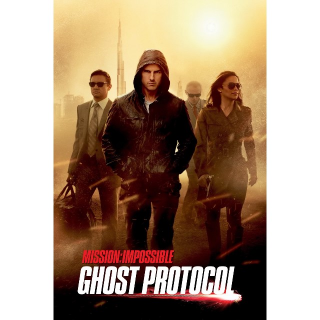INSTANT Mission: Impossible - Ghost Protocol   HDX   UV VUDU
