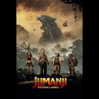 Jumanji: Welcome to the Jungle | SD | UV VUDU or SD iTunes via MA