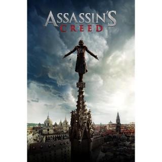Assassin's Creed | HDX | VUDU or 4K/UHD iTunes via iTunes