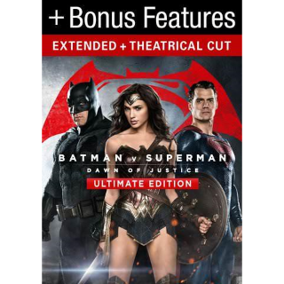 Batman v Superman: Dawn of Justice Ultimate Edition| HDX | VUDU