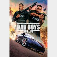 Bad Boys for Life Digital Code | 4K/UHD | VUDU or 4K/UHD iTunes via MA
