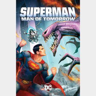 Superman: Man of Tomorrow   HDX   VUDU or HD iTunes via MA