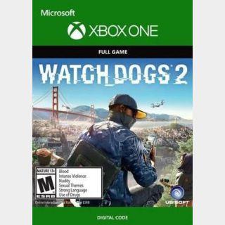Watch Dogs 2 Xbox One Key/Code Global