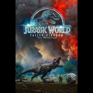 INSTANT DELIVERY Jurassic World: Fallen Kingdom | HDX | UV VUDU or HD iTunes via MA