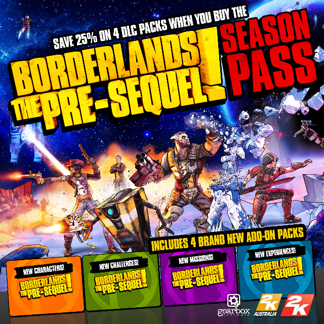 Borderlands The Pre-Sequel Season Pass Steam Key/Code Global