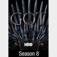 INSTANT DELIVERY Game of Thrones Season 8 | HD | iTunes