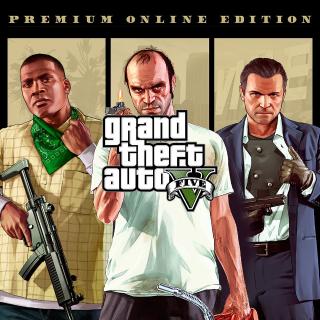 GRAND THEFT AUTO V (5) Premium Online Edition Rockstar Games Key/Code Global