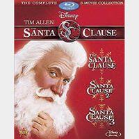 Santa Clause 1-3 Movies | HDX | Vudu or MA