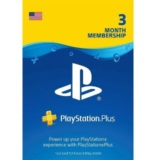 PlayStation Plus 3 Month (90 Days) PS Key/Code USA