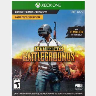PlayerUnknown's Battlegrounds (PUBG) Xbox One Key/Code Global