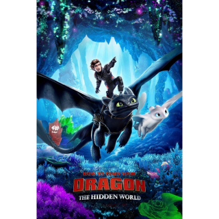 INSTANT How to Train Your Dragon: The Hidden World | HDX | VUDU or HD iTunes via MA