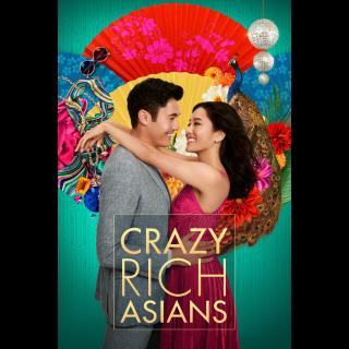 Crazy Rich Asians | HDX | UV VUDU or HD iTunes via MA