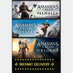 Assassin's Creed® Valhalla, Assassin's Creed® Odyssey, and Assassin's Creed® Origins.