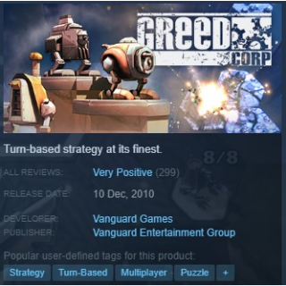 Greed Corp Steam Key