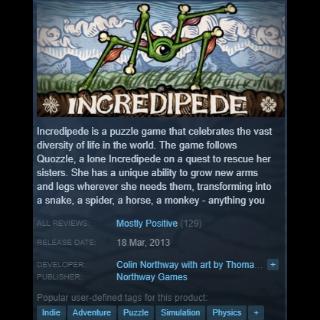Incredipede Steam Key