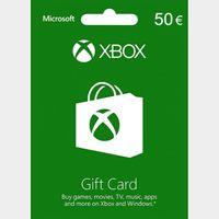 €50.00 Xbox Gift Card  EUROPE