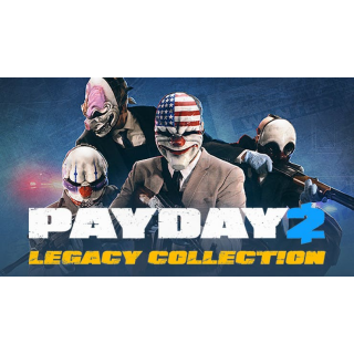 PAYDAY 2: LEGACY COLLECTION Steam Key GLOBAL Instant Delivery!!!