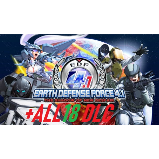EARTH DEFENSE FORCE 4.1 The Shadow of New Despair+ ALL 18 DLC Steam Key GLOBAL Instant Delivery!!!
