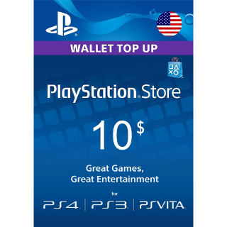 $10.00 PlayStation Store USA Instant Delivery