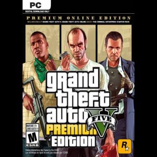 GTA V Premium Online Edition PC Rockstar Key Global Instant Delivery!!!