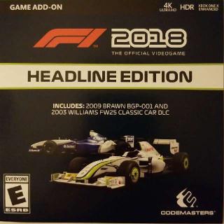F1 2018 Headline Edition DLC