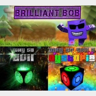 3 pack: Brilliant Bob, Why So Evil 1, Why So Evil 2 Dystopia