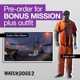 Watch Dogs 2 - Zodiac Killer Mission DLC Playstation 4