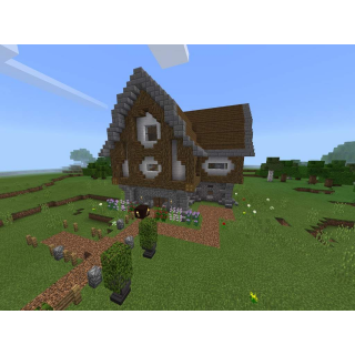 I will build you a very nice medieval-style minecraft house (Any server!)