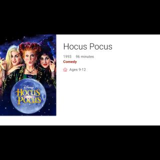 Disney's Hocus Pocus Digital Copy Code (Google Play)