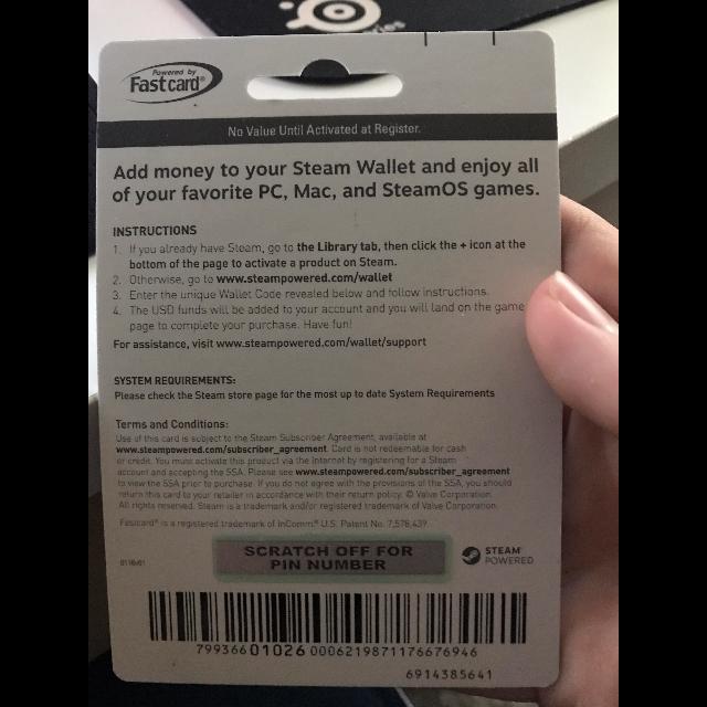 20 Dollar Steam Gift Card - Steam Gift Cards - Gameflip