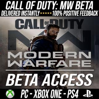 Order: Call of Duty / COD MW Modern Warfare Betas Code (PS4 / PC / Xbox) - INSTANT SEND