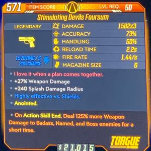 Weapon   Shock ASE 125% Devils Foursum