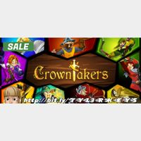 Crowntakers Steam Key 🔑 / Worth $9.99 / 𝑳𝑶𝑾𝑬𝑺𝑻 𝑷𝑹𝑰𝑪𝑬 / TYL3RKeys✔️