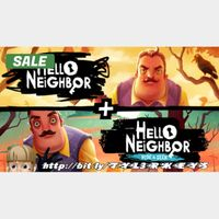 Hello Neighbor + Hello Neighbor Hide and Seek Steam Key 🔑 / Worth $59.98 / 𝑳𝑶𝑾𝑬𝑺𝑻 𝑷𝑹𝑰𝑪𝑬 / TYL3RKeys✔️