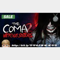 The Coma 2: Vicious Sisters Steam Key 🔑 / Worth $14.99 / 𝑳𝑶𝑾𝑬𝑺𝑻 𝑷𝑹𝑰𝑪𝑬 / TYL3RKeys✔️