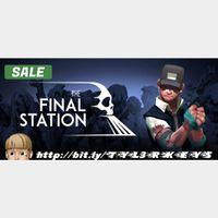 The Final Station Steam Key 🔑 / Worth $14.99 / 𝑳𝑶𝑾𝑬𝑺𝑻 𝑷𝑹𝑰𝑪𝑬 / TYL3RKeys✔️