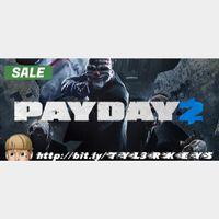 PAYDAY 2 Steam Key 🔑 / Worth $9.99 / 𝑳𝑶𝑾𝑬𝑺𝑻 𝑷𝑹𝑰𝑪𝑬 / TYL3RKeys✔️