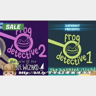 Frog Detective 1 + 2 Steam Keys 🔑 / Worth $9.98 / 𝑳𝑶𝑾𝑬𝑺𝑻 𝑷𝑹𝑰𝑪𝑬 / TYL3RKeys✔️