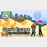 Don't Escape: 4 Days to Survive Steam Key 🔑 / Worth $14.99 / 𝑳𝑶𝑾𝑬𝑺𝑻 𝑷𝑹𝑰𝑪𝑬 / TYL3RKeys✔️