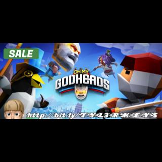 Oh My Godheads Steam Key 🔑 / Worth $14.99 / 𝑳𝑶𝑾𝑬𝑺𝑻 𝑷𝑹𝑰𝑪𝑬 / TYL3RKeys✔️